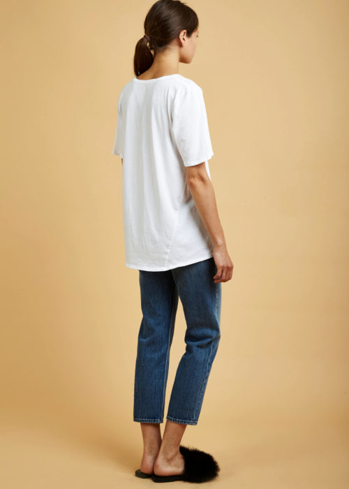 Building Block V Tee White Back Kowtow Shirt Eco-friendly Fair Trade Organic