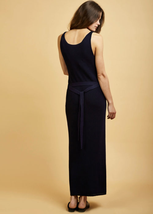 Gala Dress Navy Dress Kowtow Eco-friendly Fair Trade Organic