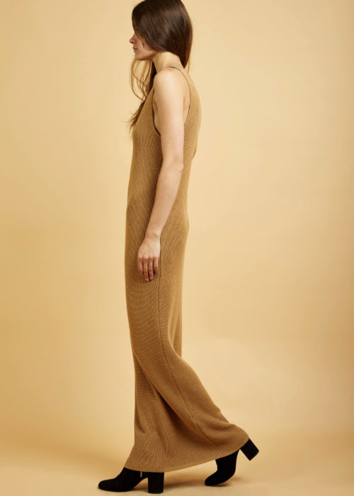 Gala Dress Tan Kowtow Dress Eco-friendly Fair Trade Organic
