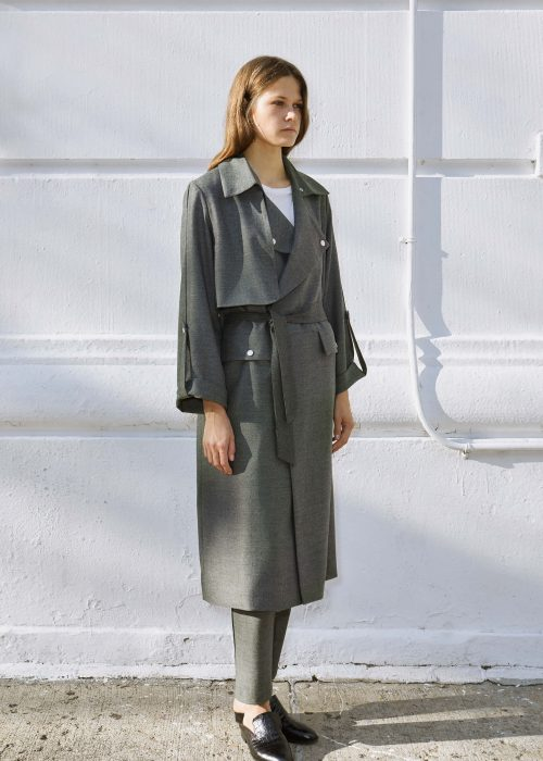 Trench coat sustainable fashion Locally-made