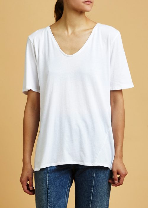 Organic cotton certified fair trade t-shirt Kowtow white