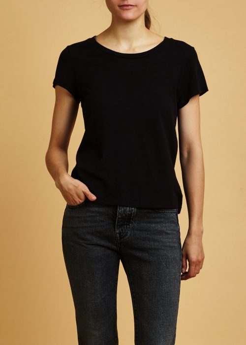 locally-made cotton t-shirt black