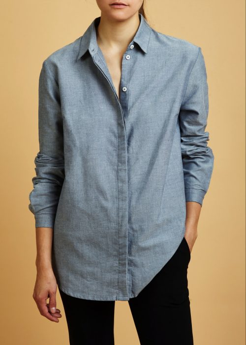 Kowtow Loft Shirt Chambray organic cotton certified fair trade