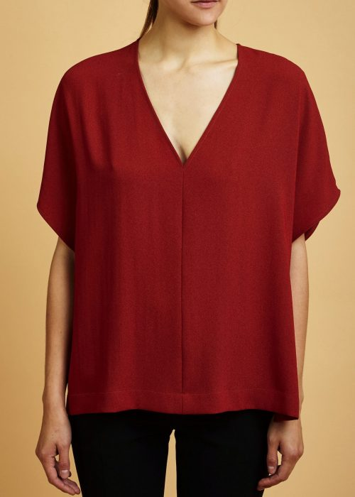 Cienne Maya Top Cinnamon Made in New York