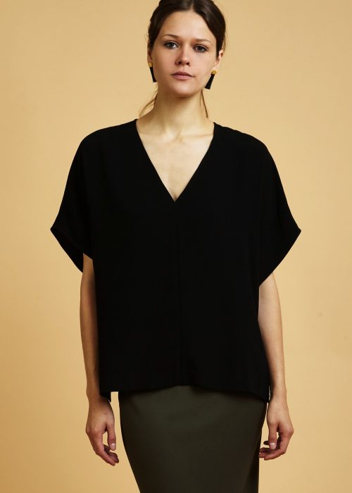 Maya Top Japanese crepe top made in NYC