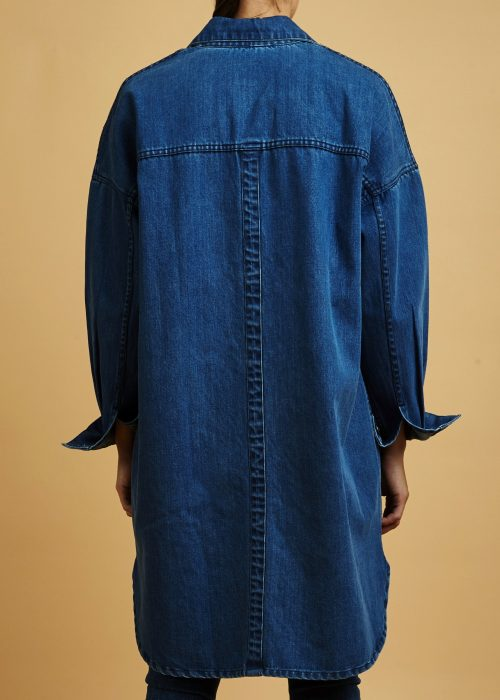 organic cotton denim certified fair trade oversized jacket