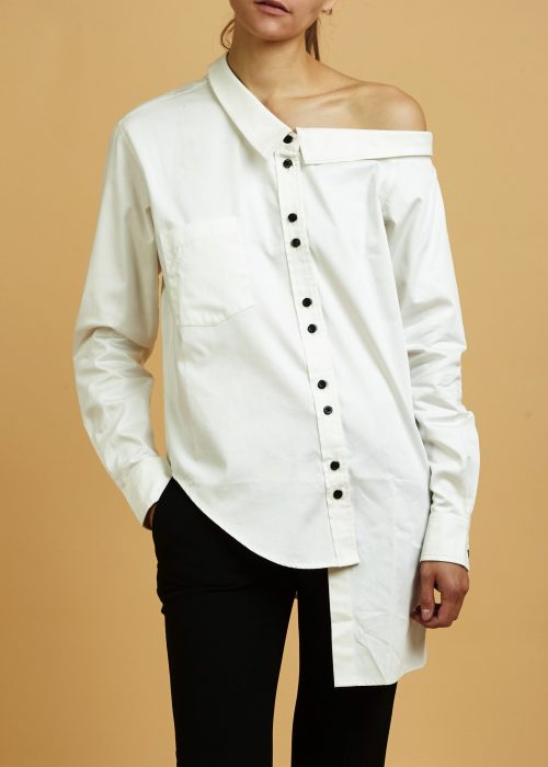 Ethically-made shirt white poplin