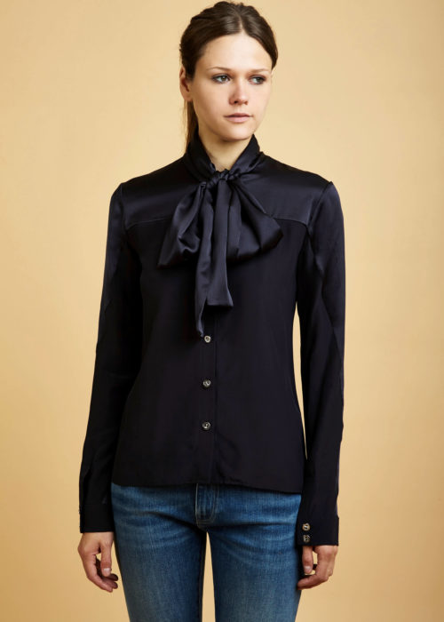 Silk Bow Blouse Ohlin/D Blouse Eco-friendly Locally-made