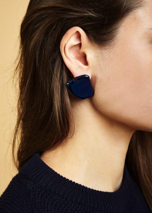 Handmade quartz blue earrings