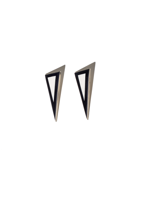 Parme marin earrings
