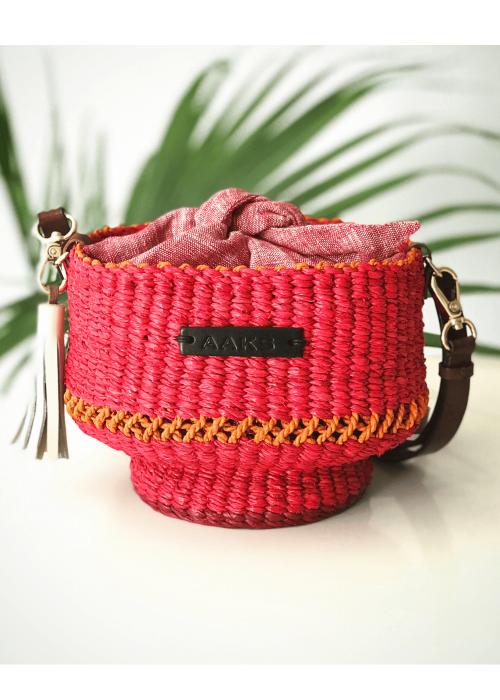 Aaks raffia straw bag