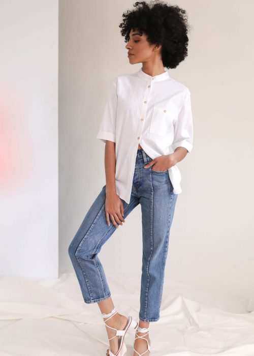 White summer shirt for women