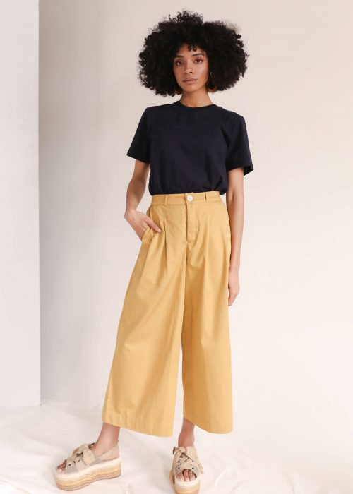 wide leg pants organic cotton
