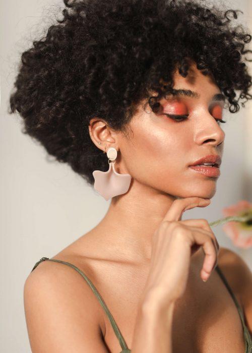 old pink earrings