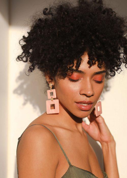 handmade pink earring