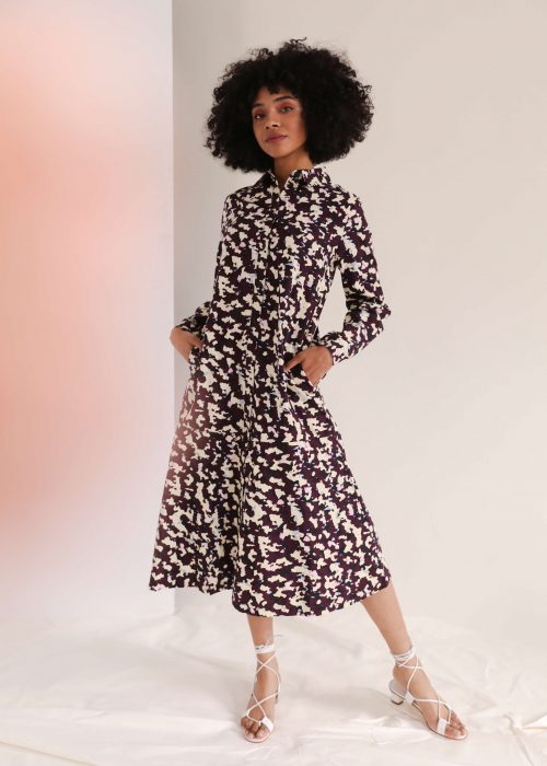 masque print kowtow shirt dress