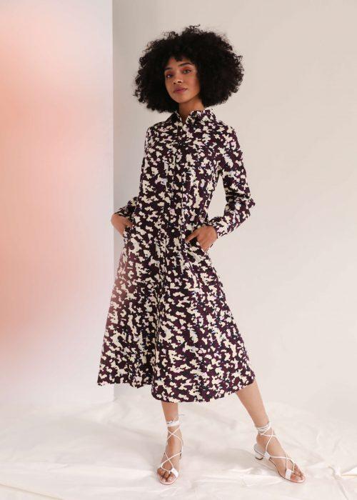 masque print kowtow shirt dress