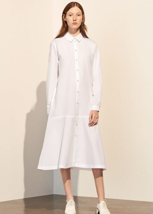 white dress organic cotton poplin