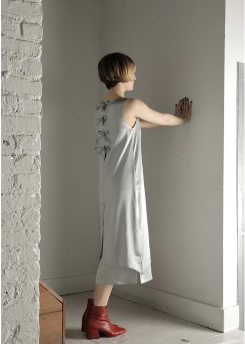Satin dress silver