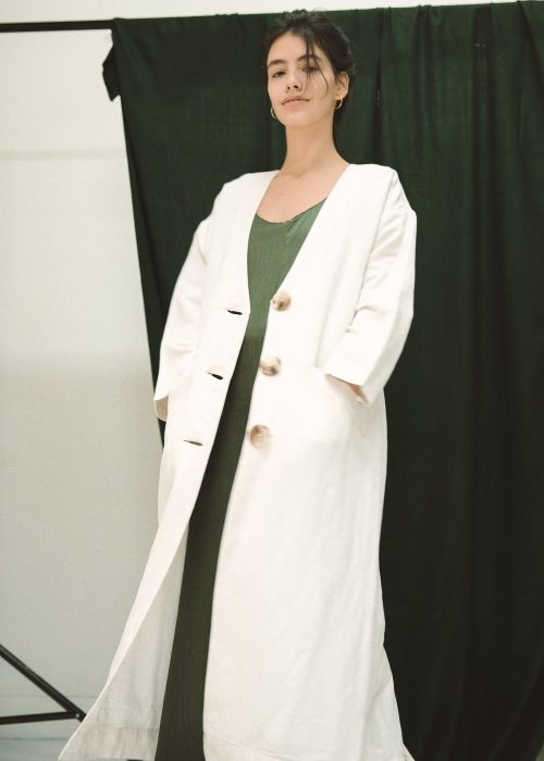 Linen coat summer white