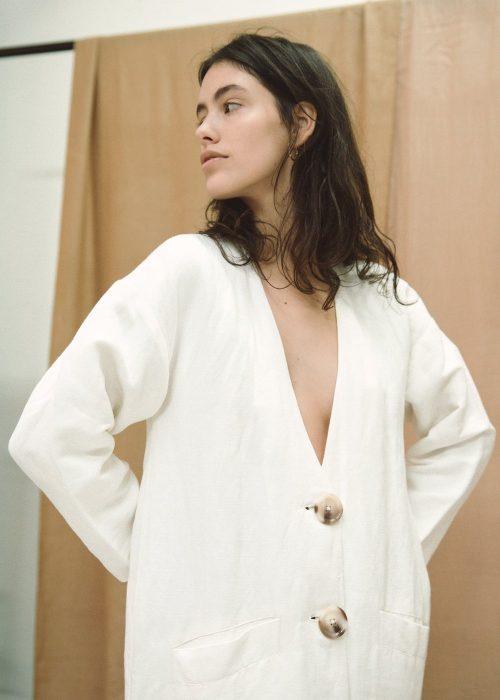 Linen summer coat