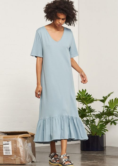 long cotton jersey dress