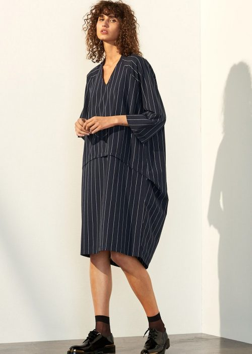 pinstripe cocoon dress