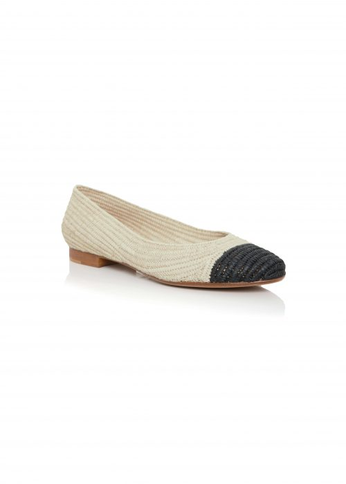 Charlotte Woivre two tone flats black and white