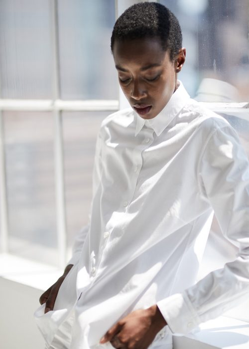 White button down organic cotton