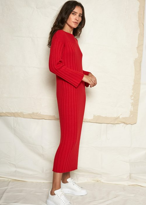 Kowtow dress red