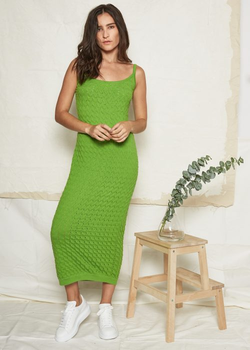 ajaie alaie alpaca green dress